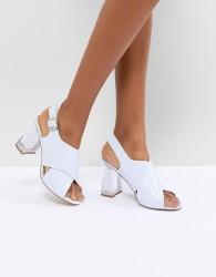 ASOS DESIGN Transparent Heeled Sandals - Purple