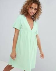 ASOS DESIGN ultimate cotton smock dress - Green
