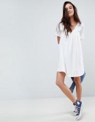 ASOS DESIGN ultimate cotton smock dress - White