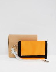 ASOS DESIGN vintage inspired wallet in orange and black - Purple
