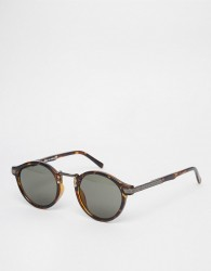 ASOS DESIGN vintage round lens sunglasses - Brown