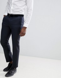 ASOS DESIGN wedding 100% wool slim suit trousers in navy - Navy