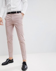 ASOS DESIGN Wedding Skinny Suit Trousers In Putty Stretch Cotton - Grey