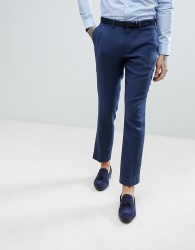 ASOS DESIGN wedding slim suit trousers in blue wool mix twill - Blue
