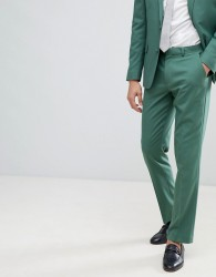 ASOS DESIGN Wedding Slim Suit Trousers In Pine Green - Green