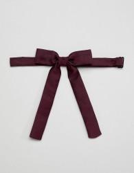 ASOS DESIGN western bow tie in burgundy - Red