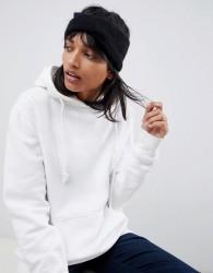 ASOS DESIGN wool mix twist front headband - Black