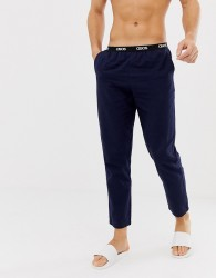 ASOS DESIGN woven straight pyjama bottoms in navy - Multi