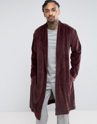 ASOS Dressing Gown In Velour - Red