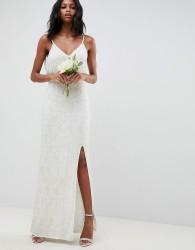 ASOS EDITION floral embellished lace wedding dress - White