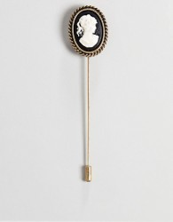 ASOS EDITION Lapel Pin With Ornate Brooch Design - Black