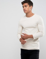 ASOS Extreme Muscle Fit T-Shirt With 3/4 Length Sleeves In White - White