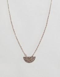 ASOS Filigree Pendant Necklace - Copper