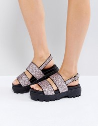 ASOS FLAUNT Chunky Flat Sandals - Pink