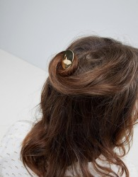 ASOS Folded Metal Disc Hair Pin - Gold