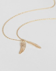 ASOS Gold Feather Necklace - Gold