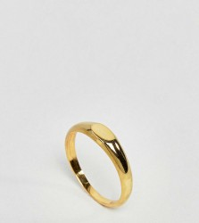 ASOS Gold Plated Sterling Silver Flat Top Ring - Gold
