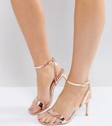 ASOS HIDEAWAY Wide Fit Heeled Sandals - Beige