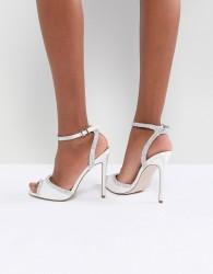 ASOS HITCHED Bridal Embellished Heeled Sandals - Cream