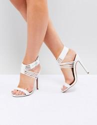 ASOS HURRICANE Heeled Sandals - White