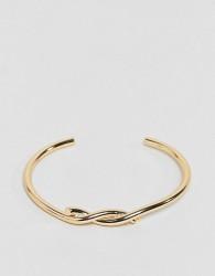 ASOS Interlocking Knot Cuff Bracelet - Gold