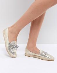 ASOS JANEEN Embellished Espadrilles - Gold
