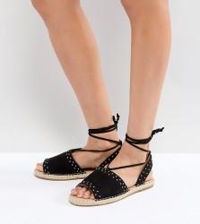 ASOS JASIA Espadrille Sandals - Black