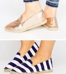 ASOS JEANIE Wide Fit Two Pack Espadrilles - Multi