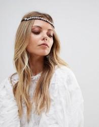 ASOS Jewel Embellished Ribbon Headband - Black