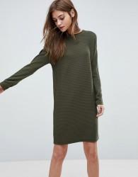 ASOS Jumper Dress In Ripple Stitch - Green