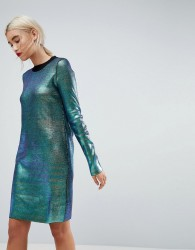 ASOS Knitted Mini Dress - Multi