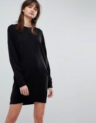 ASOS Knitted Oversized Crew Neck Dress - Black