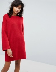 ASOS Knitted Oversized Mini Dress - Orange
