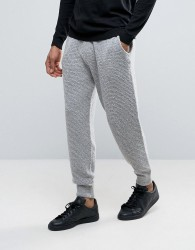 ASOS Knitted Textured Joggers In Soft Yarn - Grey