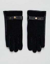 ASOS Leather Driving Gloves In Black - Black