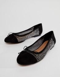 ASOS LIGHT SHOW Crystal Ballet Flats - Black