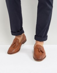 ASOS Loafers In Tan Leather With Tassel - Tan