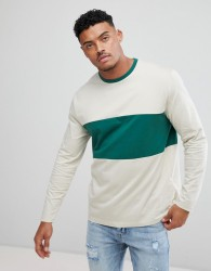 ASOS Long Sleeve Crew Neck T-Shirt With Colour Block - Multi