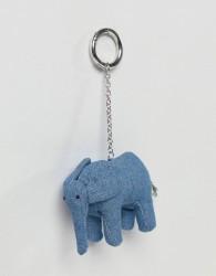 ASOS Made In Kenya Handmade Elephant Keyring - Multi