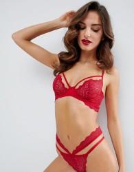 ASOS Malin Lace Strappy Underwire Bra - Red