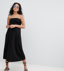 ASOS Maternity Beach Bandeau Midi Dress - Black