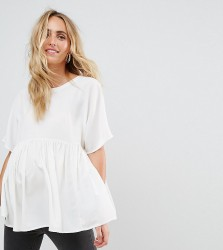 ASOS MATERNITY Exclusive Smock Top - White