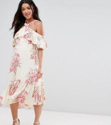 ASOS Maternity Halter Ruffle Dress - Multi