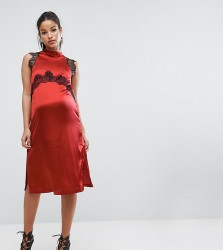 ASOS Maternity Lace Insert Dress - Red