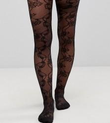 ASOS MATERNITY Lace Mesh Tights - Black