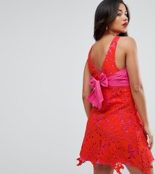 ASOS Maternity Lace Overlay Dress - Red