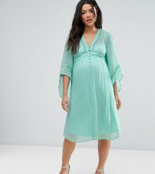 ASOS Maternity Lace Up Dress - Blue