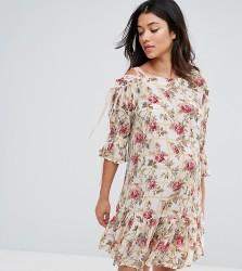 ASOS Maternity Lace Up Shoulder Floral Dress - Multi