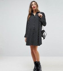 ASOS Maternity Long Sleeve Shirt Dress in Spot - Multi