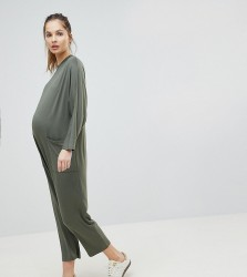 ASOS Maternity Minimal Jersey Jumpsuit with Batwing Sleeve - Multi
